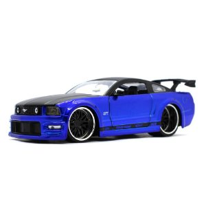 Ford Mustang GT 2006 Azul 1/24 Jada Toys Big Time Muscle