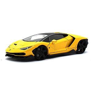 Lamborghini Centenario 2017 Amarelo 1/24 Jada Toys Hyper Spec