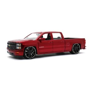Chevrolet Silverado Custom Edition 2014 Vermelho 1/24 Jada Toys Just Trucks