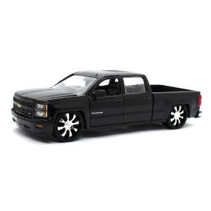 Chevrolet Silverado Custom Edition 2014 Preto 1/24 Jada Toys Just Trucks