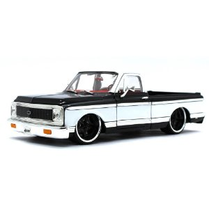 Chevrolet Cheyenne Pickup 1972 Preto 1/24 Jada Toys Just Trucks