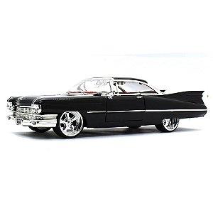 Cadillac Coupe Deville Hard Top Custom 1959 Preto 1/24 Jada Toys Big Time Customs