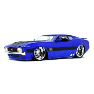 Ford Mustang USA Match 1 Coupe Custom 1973 Azul 1/24 Jada Toys Big Time Muscle
