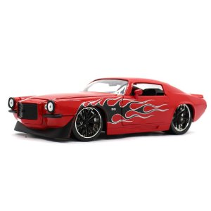 Chevrolet Camaro SS Coupe Custom 1971 Vermelho 1/24 Jada Toys Big Time Muscle