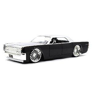 Lincoln Continental 1963 Preto 1/24 Jada Toys Big Time Kustoms