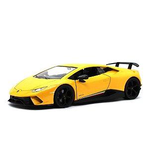 Lamborghini Huracan LP640-4 Performante 2017 Amarelo 1/24 Jada Toys Hyper Spec