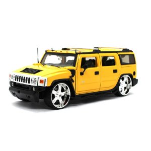 Hummer H2 Custom 2003 Amarelo 1/24 Jada Toys Big Time Kustoms