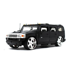 Hummer H2 Custom 2003 Preto 1/24 Jada Toys Big Time Kustoms