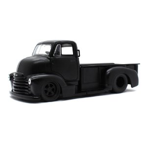 Chevrolet Coe Pickup 1952 Preto Fosco 1/24 Jada Toys Just Trucks