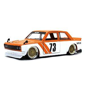 Datsun 510 1973 Widebody Laranja 1/24 Jada Toys JDM Tuners