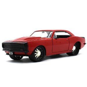 Chevrolet Camaro Z28 Coupe Custom 1967 Vermelho 1/24 Jada Toys Big Time Muscle