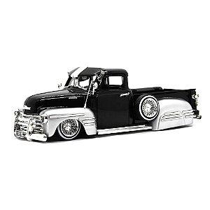 Chevrolet 3100 Pick Up Street Low Custom 1951 Preto 1/24 Jada Toys Just Trucks