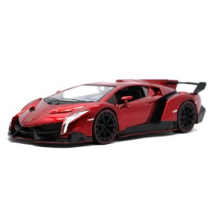 Lamborghini Veneno 2017 Vermelho 1/24 Jada Toys Hyper Spec