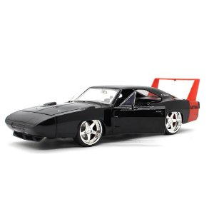 Dodge Charger Daytona Custom 1969 Preto 1/24 Jada Toys Big Time Muscle