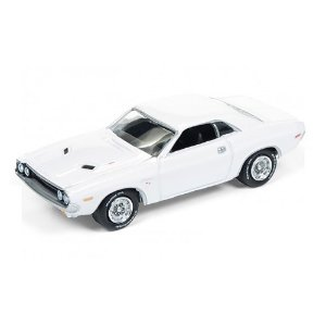 Dodge Challenger R/T 1970 Vanishing Point  Corrida contra o Destino 1/64 Johnny Lightning Muscle Cars USA 2017 Series Release 3