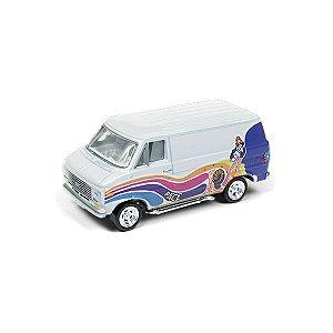 Chevrolet G-20 Van 1976 Boogie Vans 1/64 Johnny Lightning Street Freaks 2018 Series Release 1 Versão A