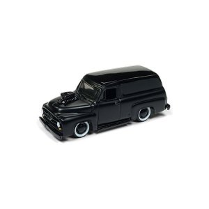 Ford Panel Delivery 1955 Blacked Out 1/64 Johnny Lightning Street Freaks 2018 Series Release 1 Versão B