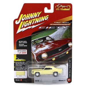 Camaro SS 1969 1/64 Johnny Lightning Classic Gold 2017 4 A