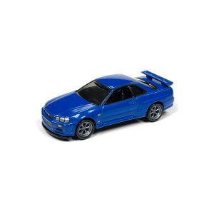 Nissan Skyline GT-R (BNR34) 1999 1/64 Johnny Lightning Classic Gold Collection 2018 Release 1 Versão A