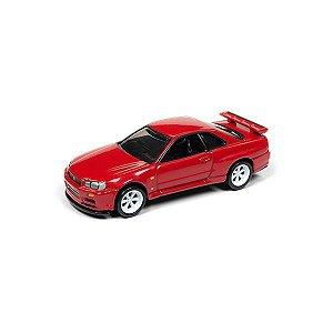 Nissan Skyline GT-R (BNR34) 1999 1/64 Johnny Lightning Classic Gold Collection 2018 Release 1 Versão B