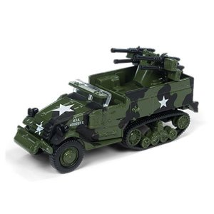 M16 Half Track Segunda Guerra Mundial 1/64 Johnny Lightning The Greatest Generation 2018 Release 1 Versão A