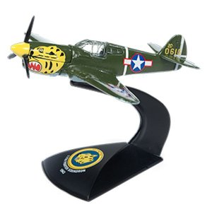 Avião Curtiss P-40E Warhawk Segunda Guerra Mundial 1/64 Johnny Lightning The Greatest Generation 2018 Release 1 Versão A