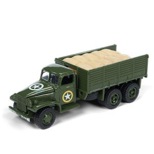 GMC CCKW 2 1/2 ton 6x6 Segunda Guerra Mundial 1/64 Johnny Lightning The Greatest Generation 2018 Release 1 Versão A