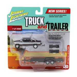 Dodge Ram 1996 1/64 Johnny Lightning Truck And Trailer Release 1 Versão A