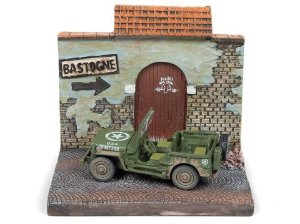 Diorama Jeep Willys The Siege of Bastogne / To Bastogne Segunda Guerra Mundial 1/64 Johnny Lightining The Greatest Gener