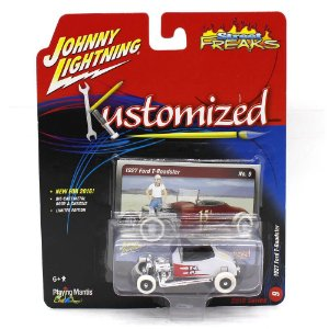 WHITE LIGHTNING Ford T-Roadster 1927 1/64 Johnny Lightning Kustomized Street Freaks 2016 Series