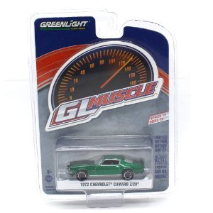 GREEN MACHINE Chevrolet Camaro Z28 1972 1/64 Greenlight GL Muscle Serie 19