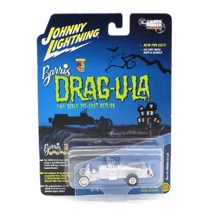 WHITE LIGHTNING Drag-U-La Barris 1/64 Johnny Lightning 2017 Series