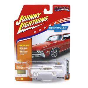 WHITE LIGHTNING Chevrolet Impala 1968 Muscle Cars USA D 1/64 Johnny Lightning