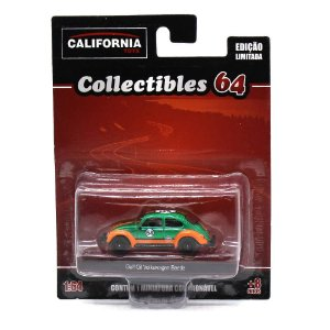GREEN MACHINE Volkswagen Fusca Gulf Oil 1/64 Greenlight California Collectibles 64