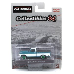 GREEN MACHINE Ford F100 1969 com capota 1/64 Greenlight California Collectibles 64