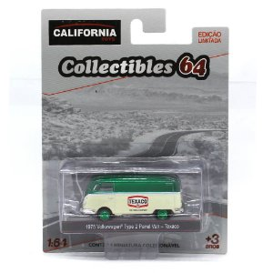 GREEN MACHINE Volkswagen Kombi Type 2 Panel Van Texaco 1/64 Greenlight California Collectibles 64