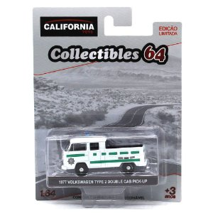 GREEN MACHINE Volkswagen Kombi Type 2 Cabine Dupla Pick Up 1977 1/64 Greenlight Califórnia Collectibles 64