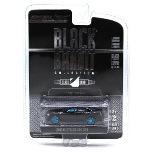 GREEN MACHINE Chrysler 300 SRT 2013 1/64 Greenlight Black Bandit Serie 9