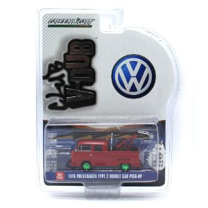 GREEN MACHINE Volkswagen Kombi Type 2 Cabine Dupla Pick Up 1976 1/64 Greenlight V-Dub Club Serie 5