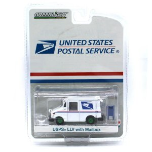 GREEN MACHINE USPS LLV With Mailbox United States Postal Service 1/64 Greenlight