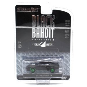 GREEN MACHINE Ford Falcon XB 1973 1/64 Greenlight Black Bandit Series 18