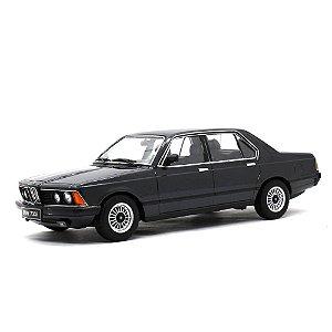 BMW 7 Series 733i E23 4 Portas Preto 1977 1/18 KK Scale
