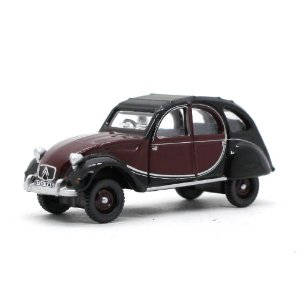 Citroen 2CV Marrom e Preto 1/76 Oxford Automobile Company