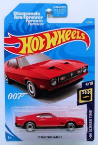 Ford Mustang Mach 1 1971 007 James Bond Os Diamantes São Eternos 1/64 Hot Wheels HW  Screen Time