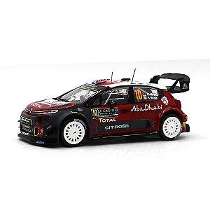 Citroen C3 WRC Abu Dhabi N 10 Rally Montecarlo 2018 Kris Meeke e Paul Nagle 1/43 Ixo