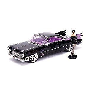 Mulher Gato Cadillac Coupé Deville 1959 DC Comics Bombshells 1/24 Jada Toys Metals Die Cast