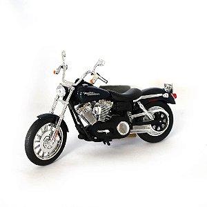 Moto Harley Davidson FXDBI Dyna Street Bob 2006 1/12 Maisto HD Custom