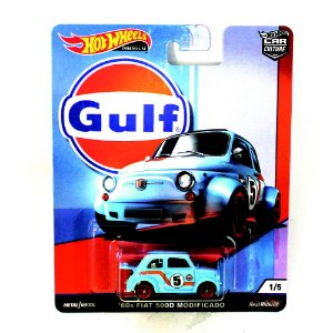 Fiat 500D Modificado 60s Gulf 1/64 Hot Wheels Premium Car Culture
