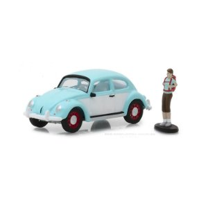 Volkswagen Fusca e Mochileiro The Hobby Shop Series 4 1/64 Greenlight
