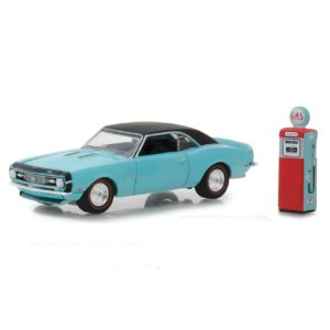 Chevrolet Camaro SS 1968 e Bomba de Combustivel Vintage The Hobby Shop Series 5 1/64 Greenlight